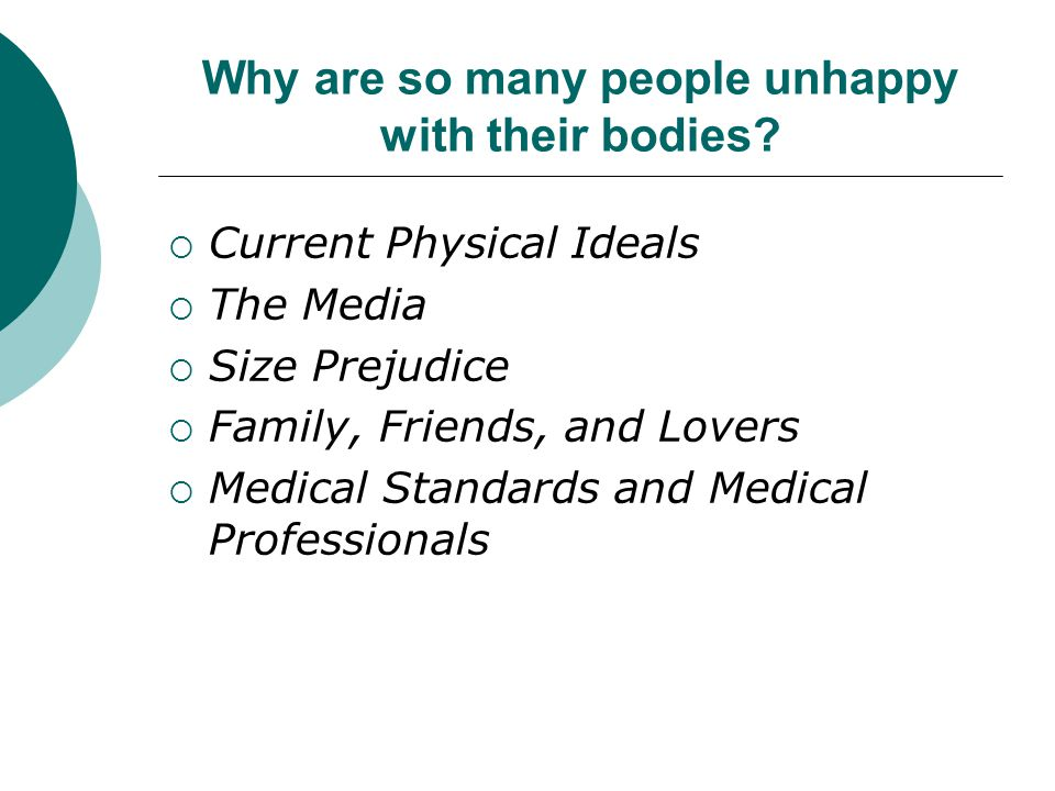 Why are so many people unhappy with their bodies