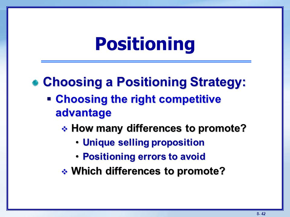 Positioning errors Under-positioning Over-positioning