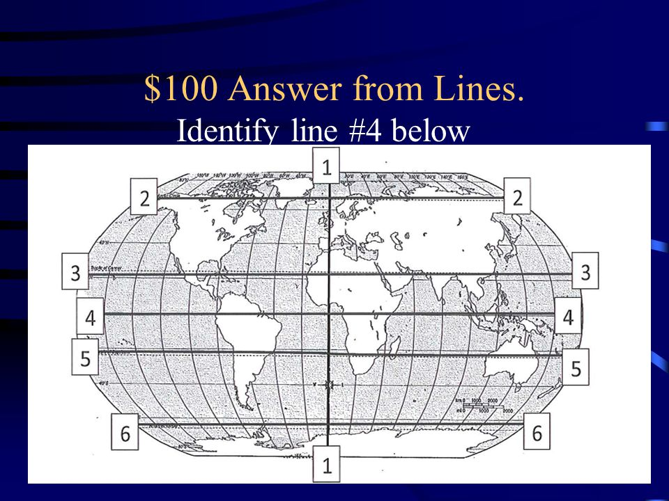 $100 Answer from Lines. Identify line #4 below