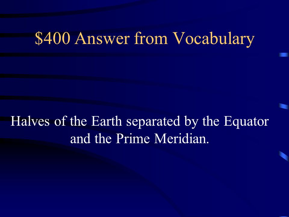 $400 Answer from Vocabulary