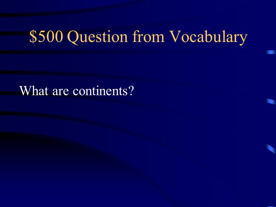 $500 Question from Vocabulary