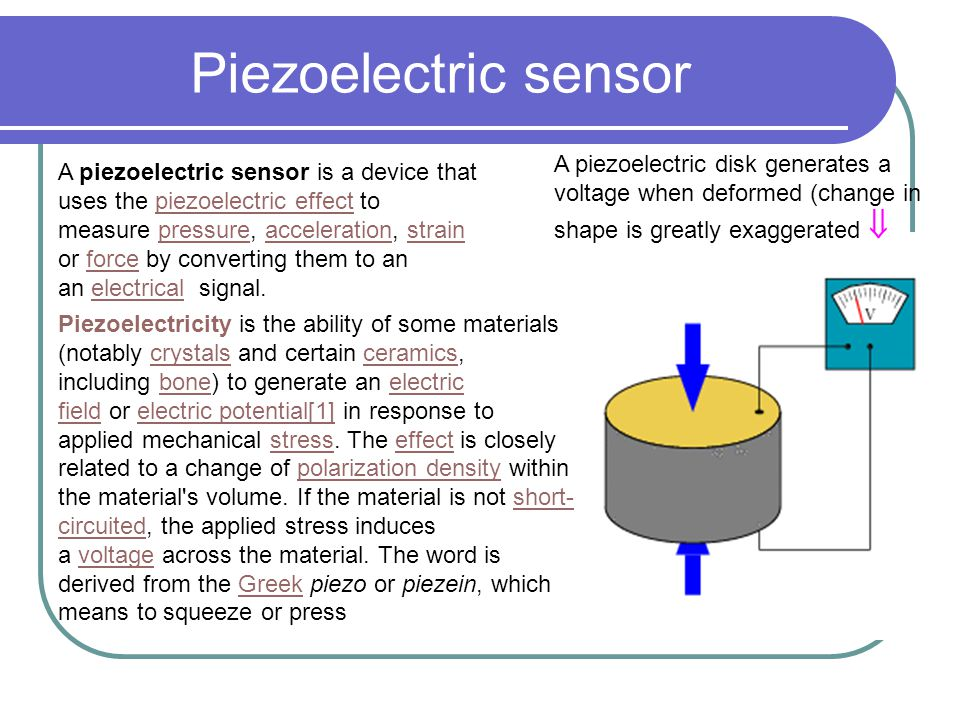 how to connect piezoelectric sensor