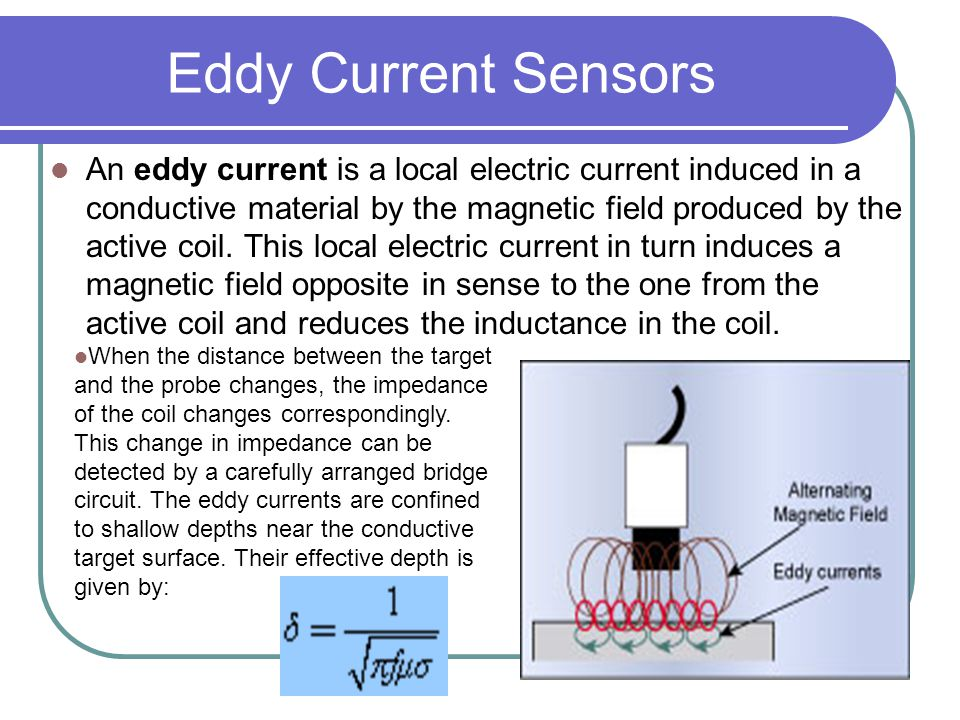 Electric Current Locator : Eddy current sensors ppt video online download