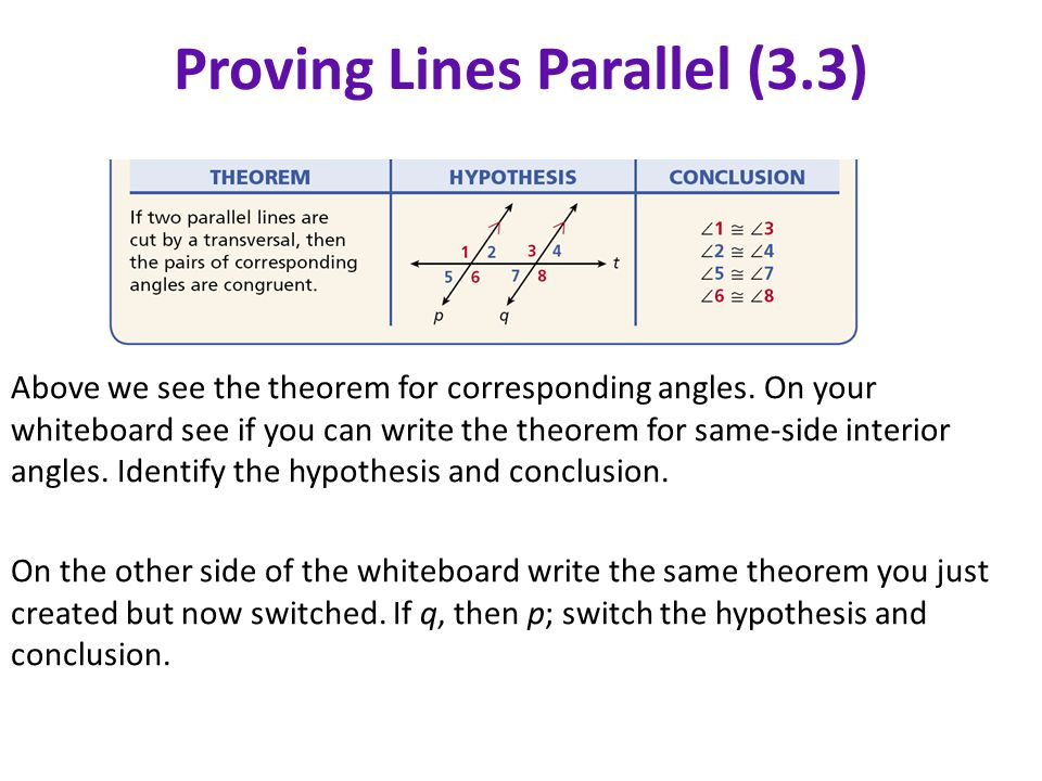 Welcome Geometry Please do the following ppt video online download – Proving Lines Parallel Worksheet