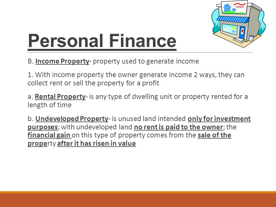 Personal finance ppt download for Loan for land only