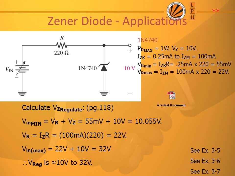 Zener Diode - Applications