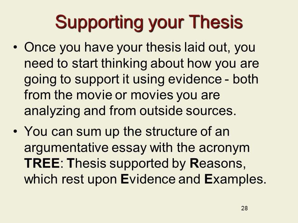 Supporting thesis