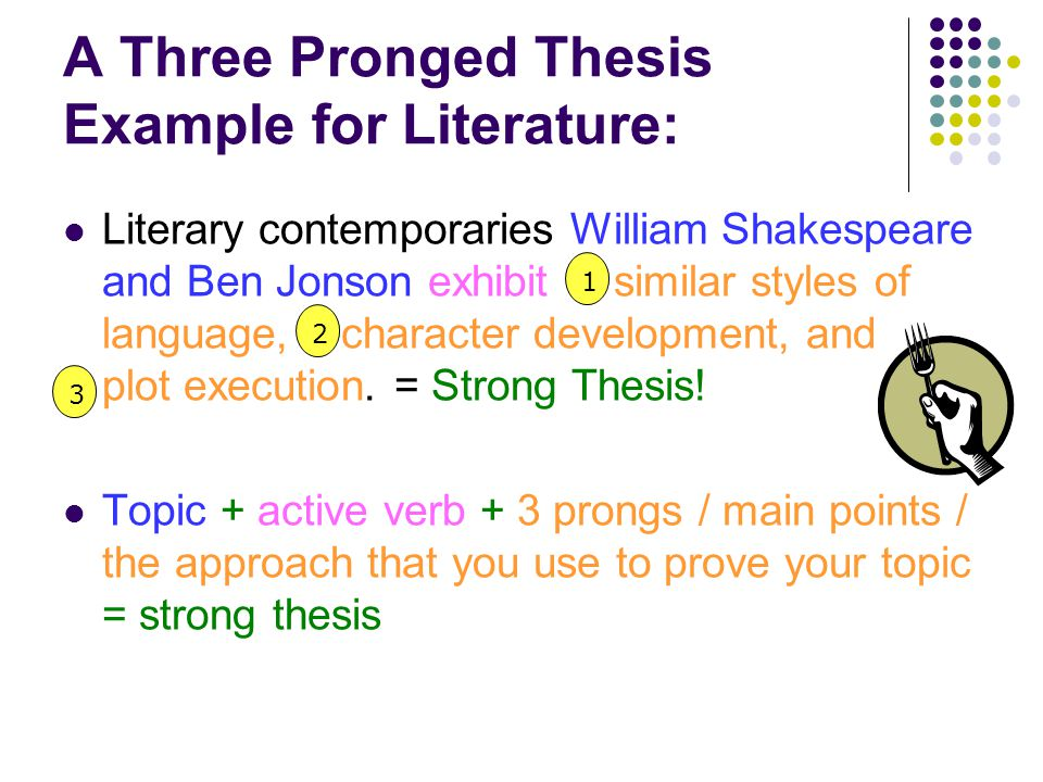 How do you write a three prong thesis statement?