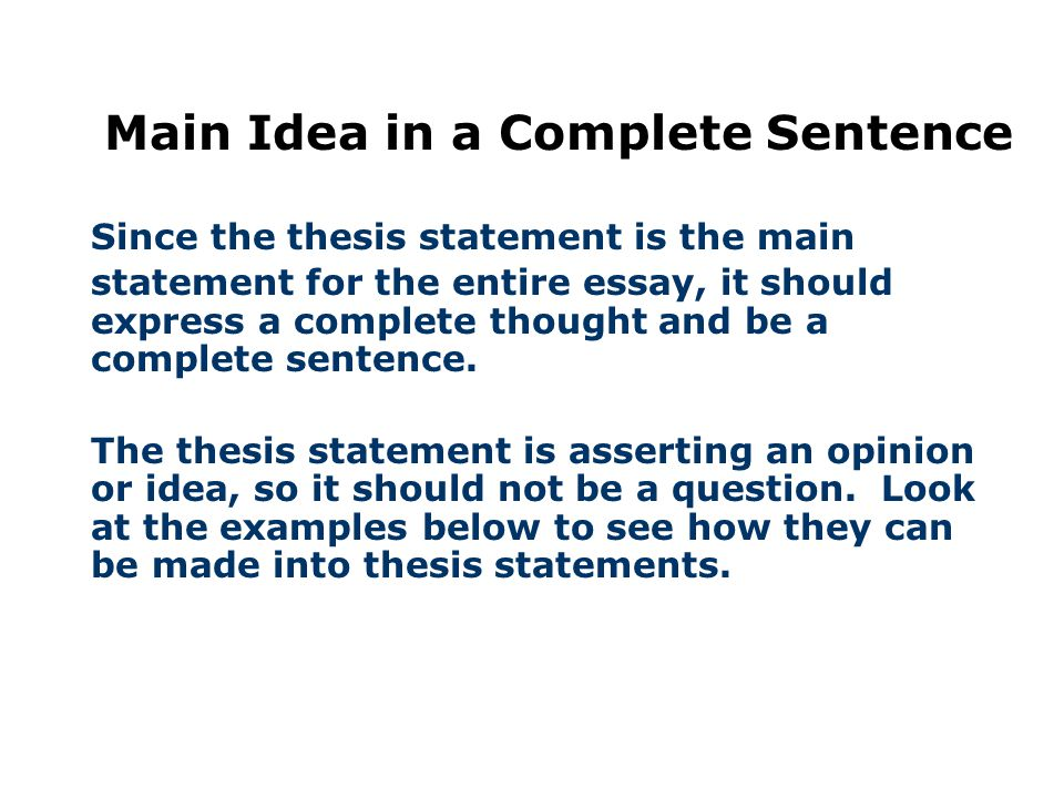 A Road Map For Your Essay  Ppt Video Online Download  Main