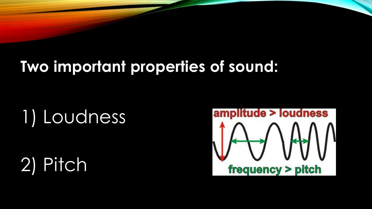 Two important properties of sound: