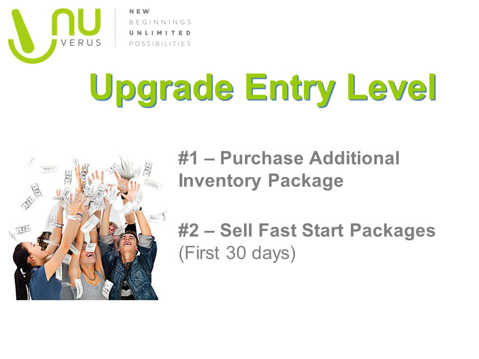 Upgrade Entry Level #1 – Purchase Additional Inventory Package