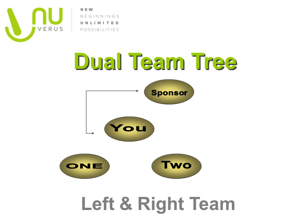 Dual Team Tree Sponsor You Two ONE Left & Right Team