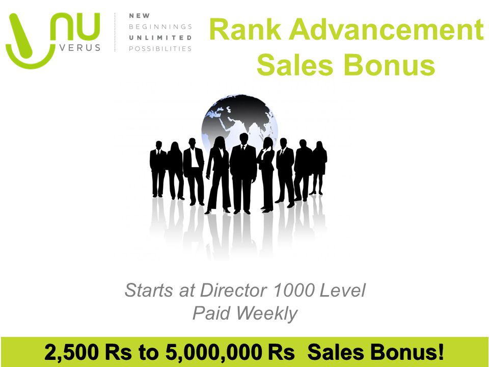 Rank Advancement Sales Bonus
