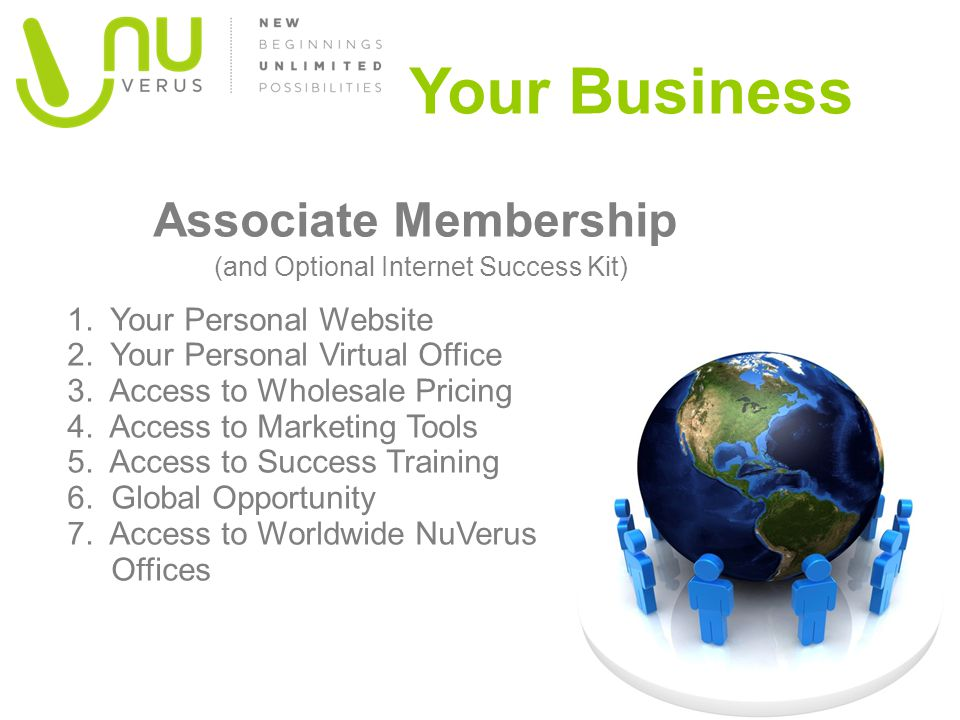 Your Business Associate Membership (and Optional Internet Success Kit)