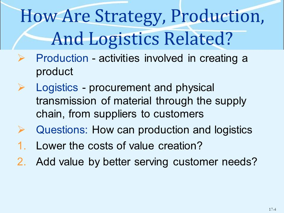 How Are Strategy, Production, And Logistics Related