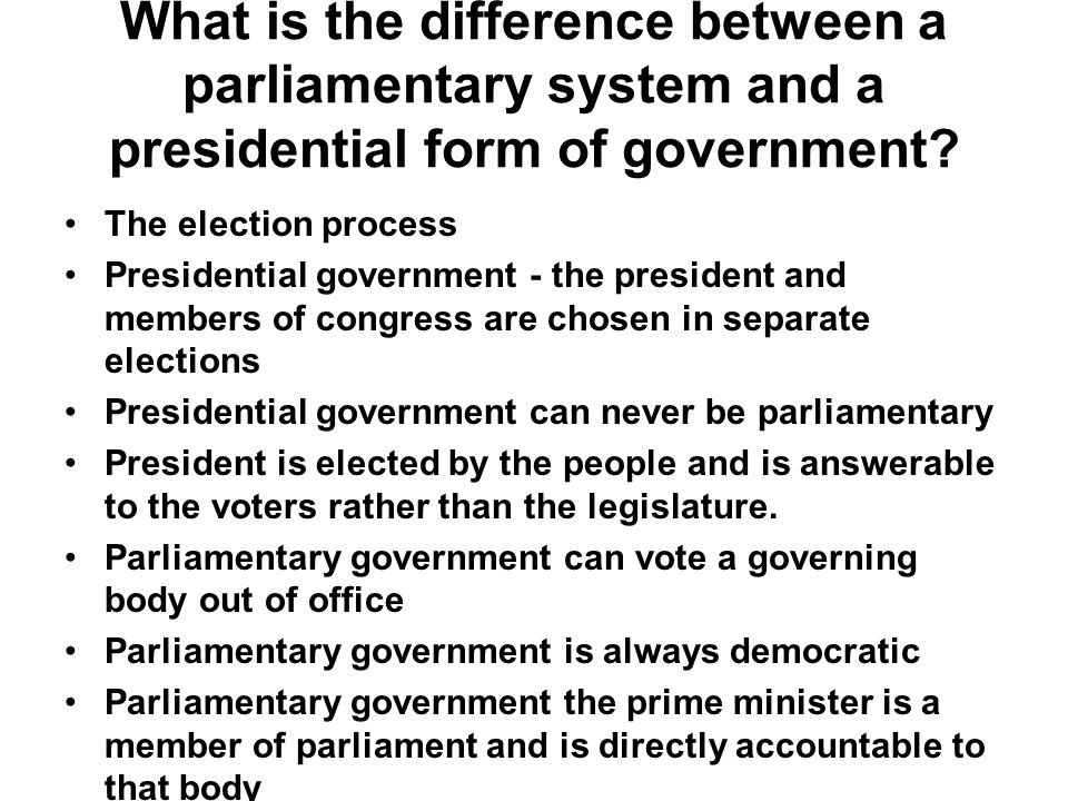 presidential form of government This is the group discussion on presidential v/s parliamentary form of government in india.