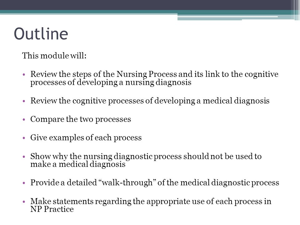 a detailed process of giving a diagnose to a patient The timeliness of cancer diagnosis in patients who present with symptoms   ncda was to generate a detailed understanding of the diagnostic process  in a  major national audit initiative providing opportunities for targeted.