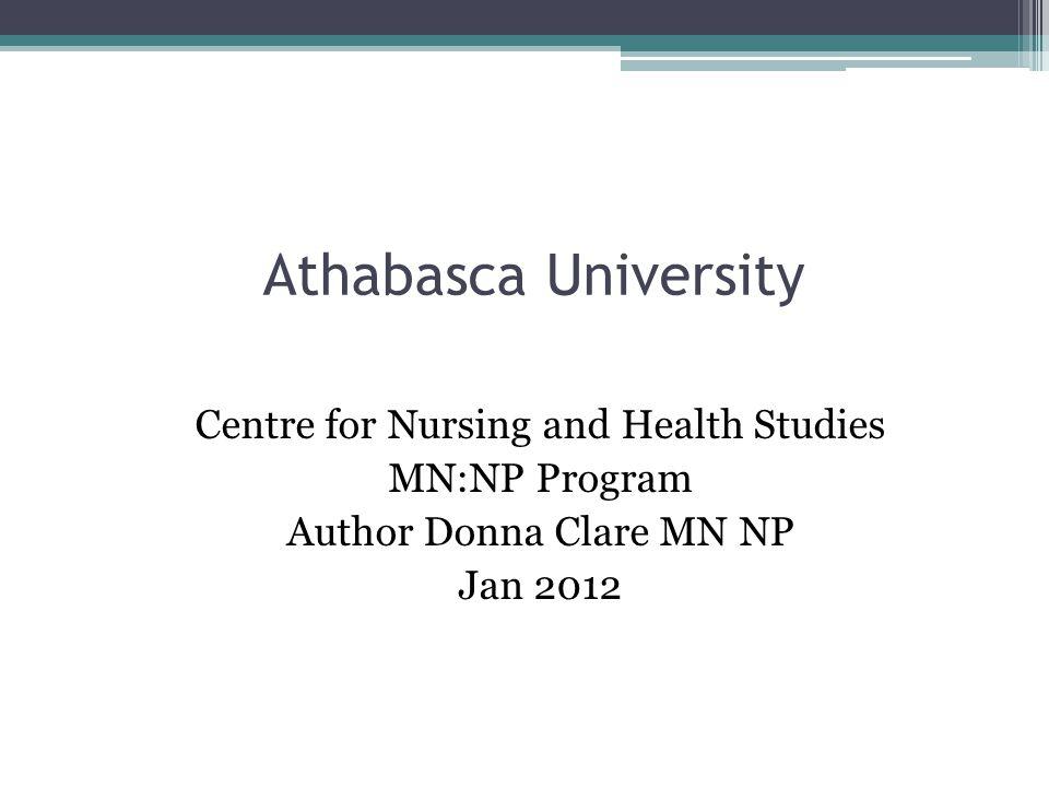 Athabasca University Online Nursing Program