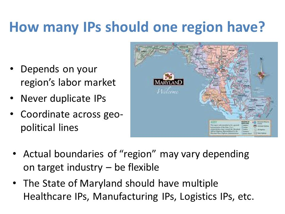 How many IPs should one region have