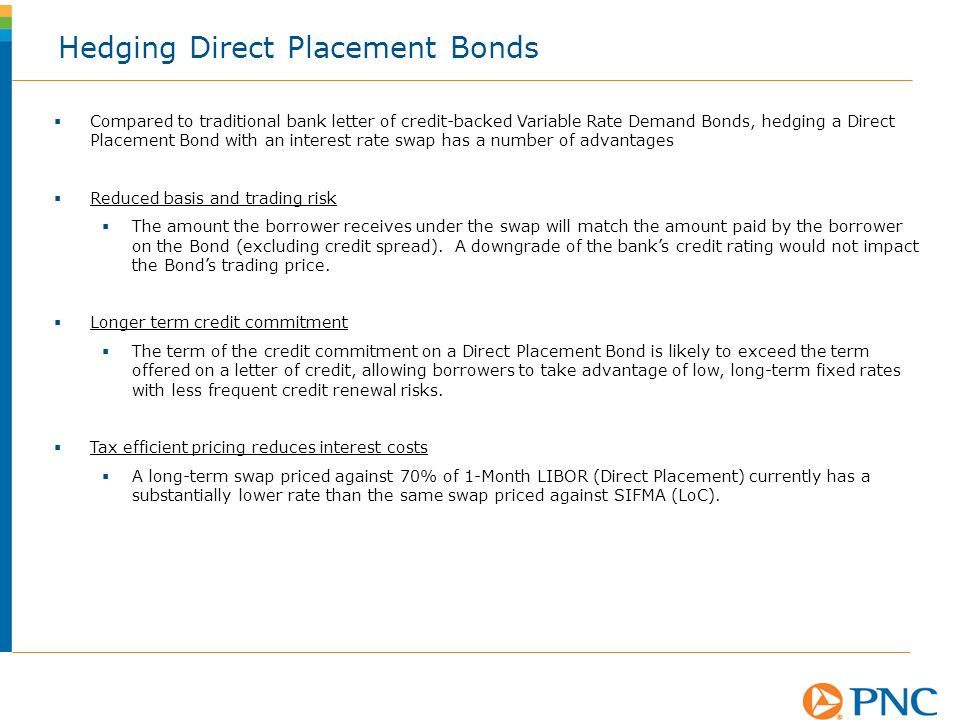Hedging Direct Placement Bonds