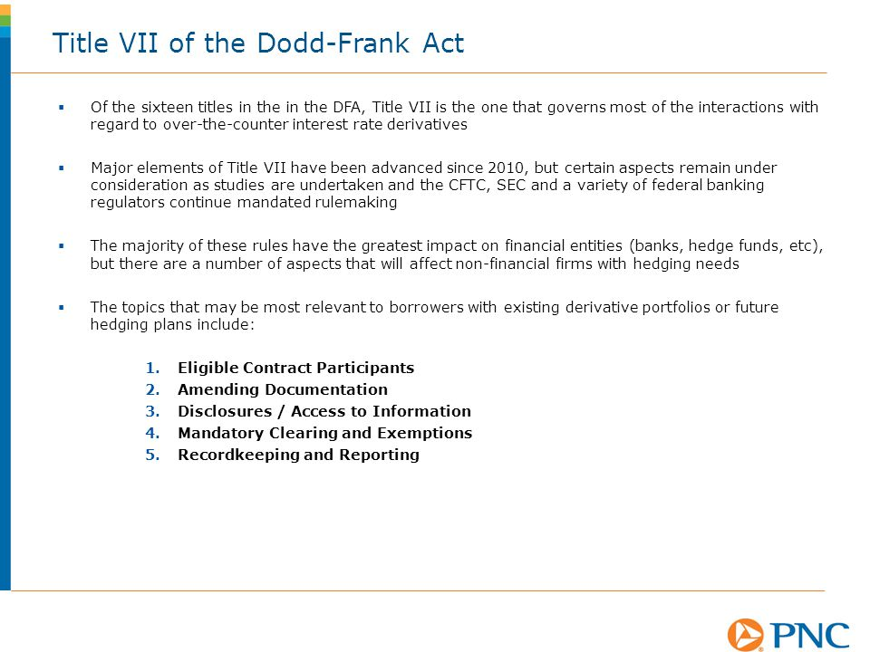Title VII of the Dodd-Frank Act