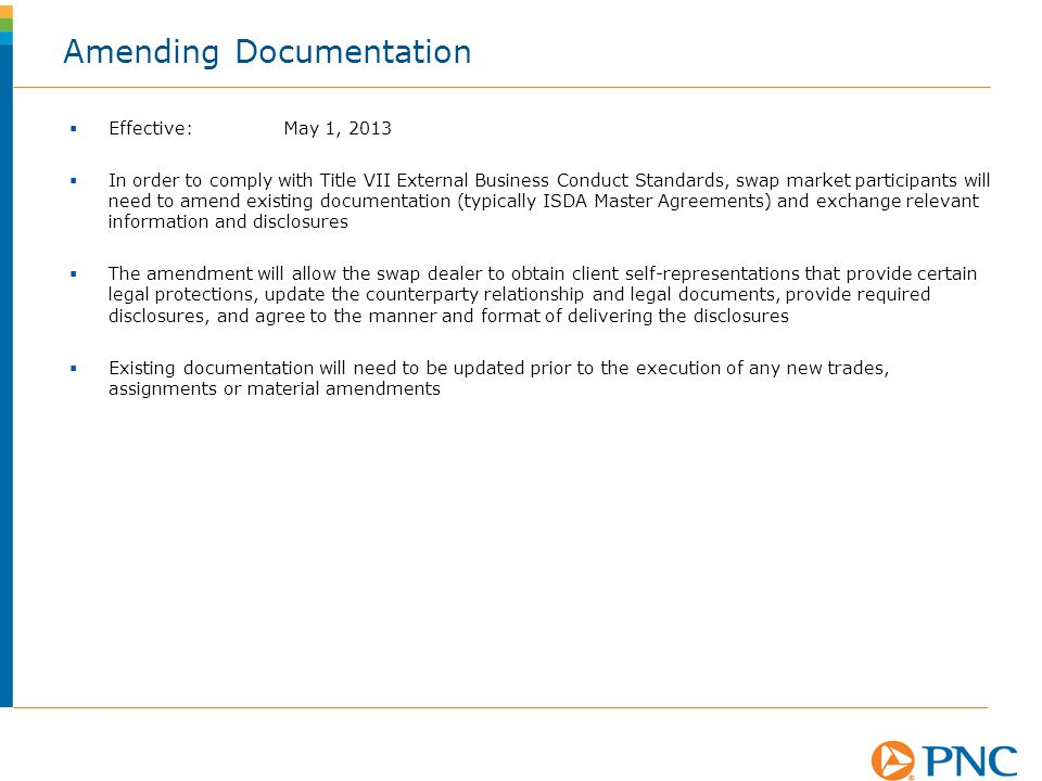 Amending Documentation