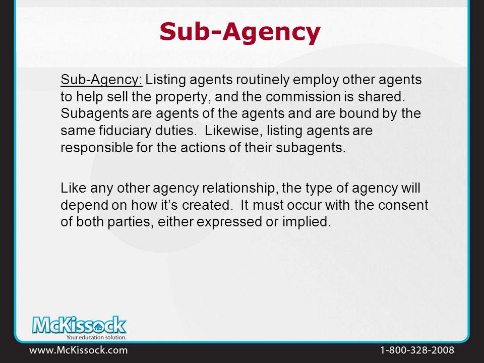 sub agency relationship between shareholders