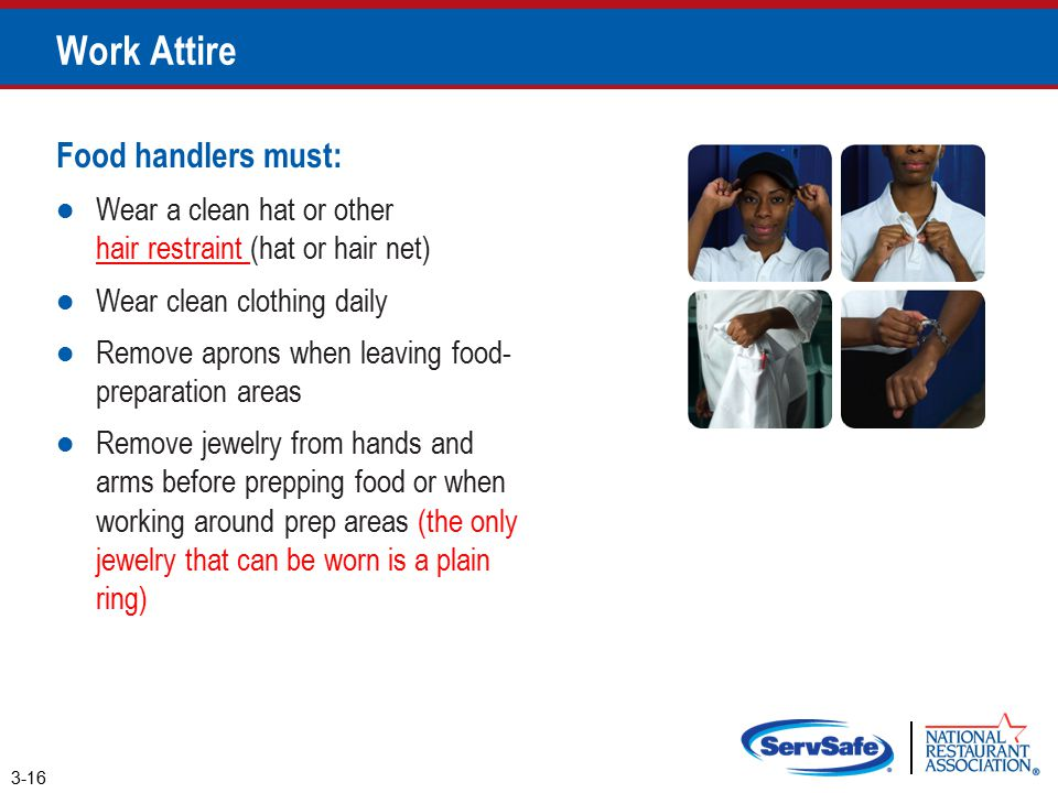 What Jewelry Can Food Handler Wear