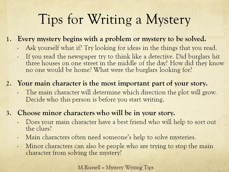 How to write a detective story: 7 keys to a killer whodunnit