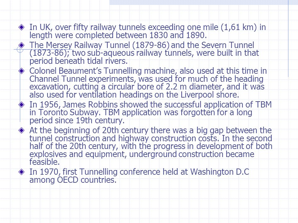 tunnel excavation machines