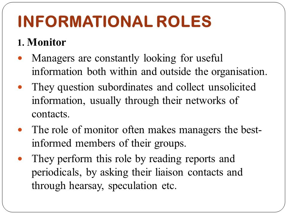 informational roles of the manager Managerial functions do differ from the roles managers play in companies functions are the responsibilities of a manager they include some of the key duties listed.