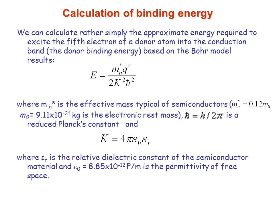 how to find binding energy