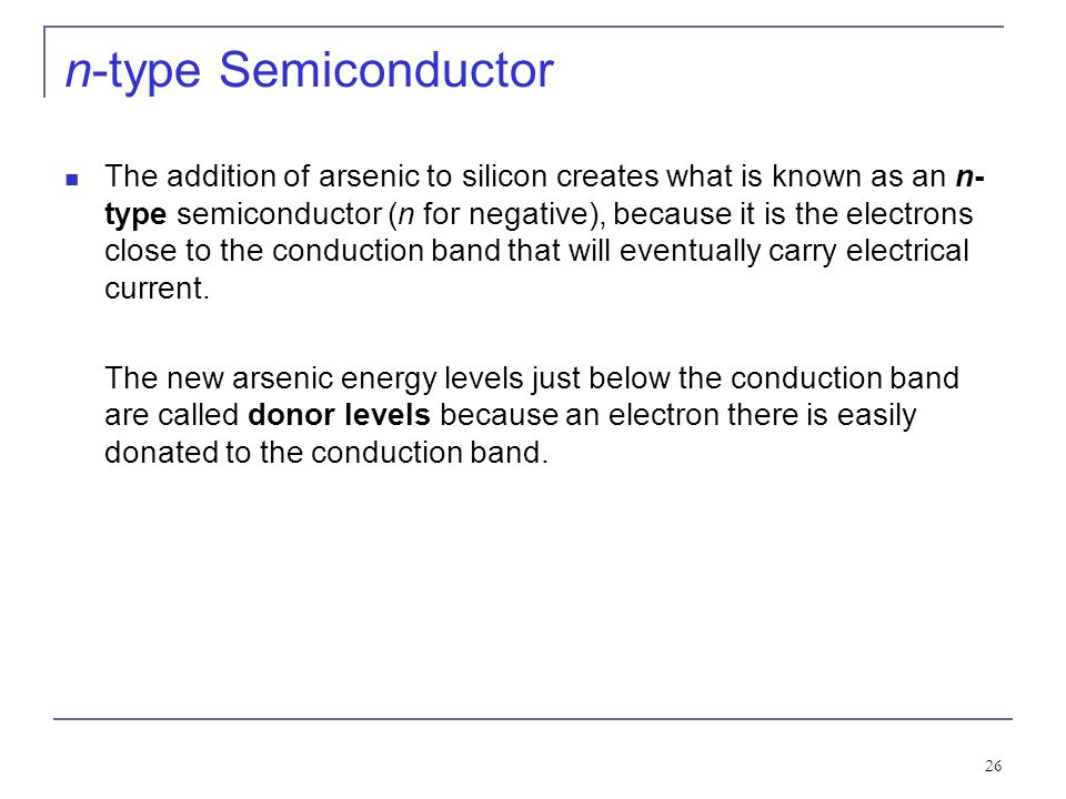 Kinds of semiconductor