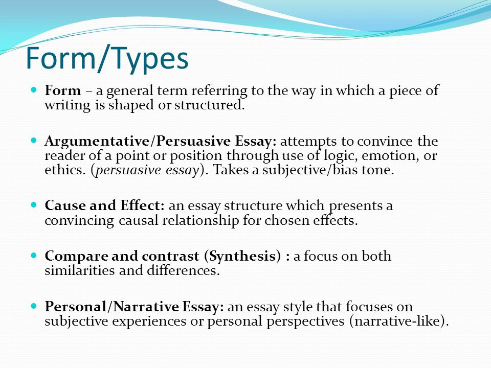 multi paragraph responses ppt video online  form types form a general term referring to the way in which a piece