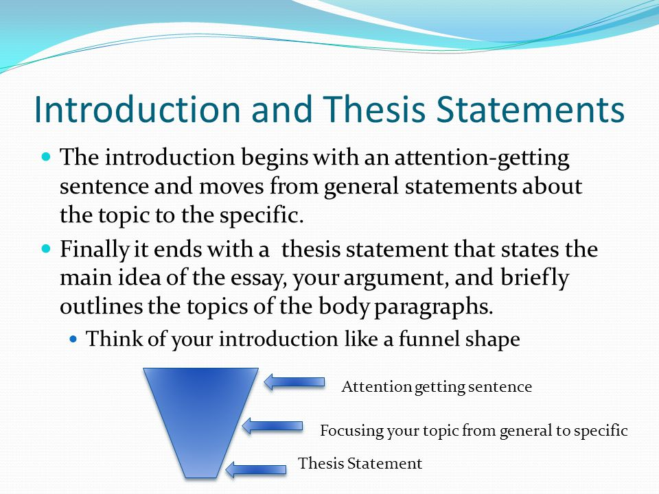 attention getting statements essays