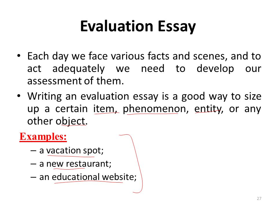 How To Write An Evaluation Essay On A Restaurant