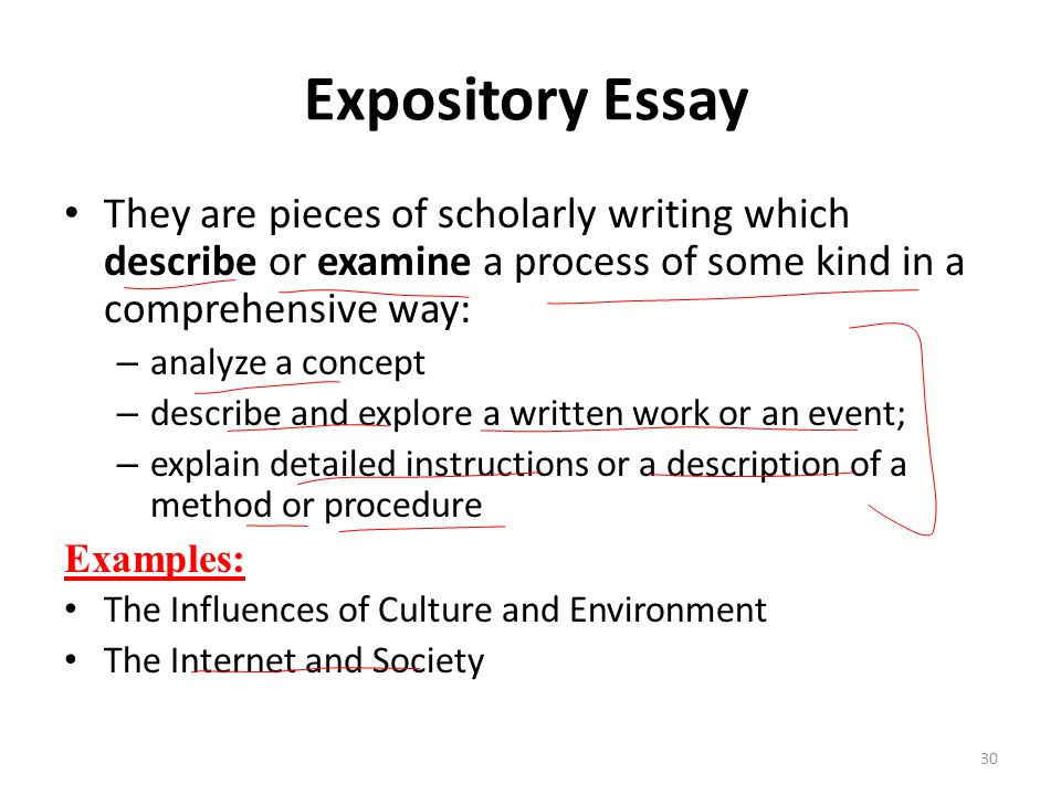 Expository essay methods of development