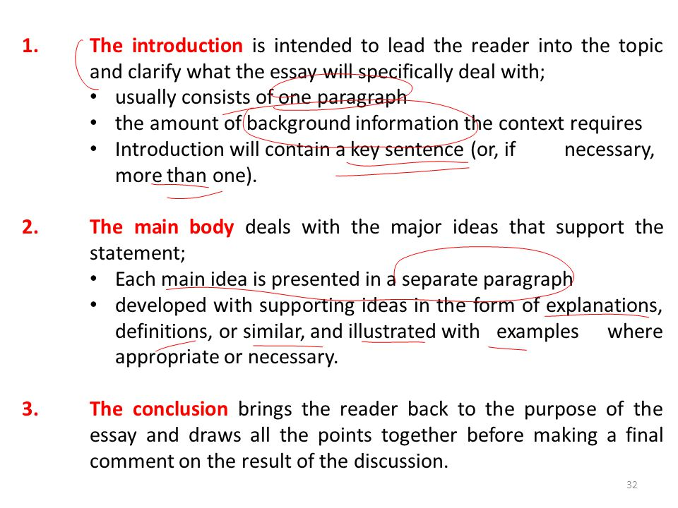 lecture essay writing ppt video online 32 the introduction