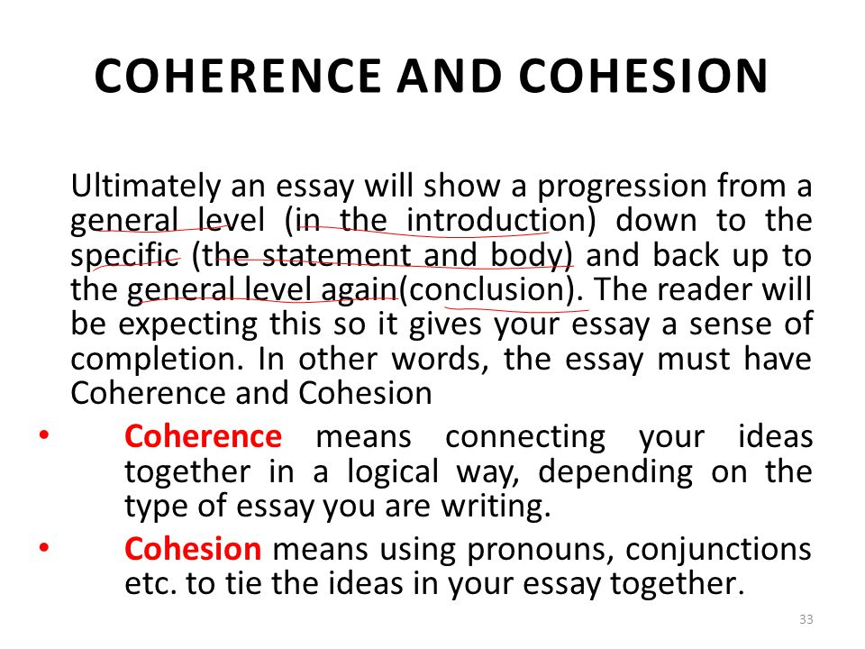 Coherence in essay writing