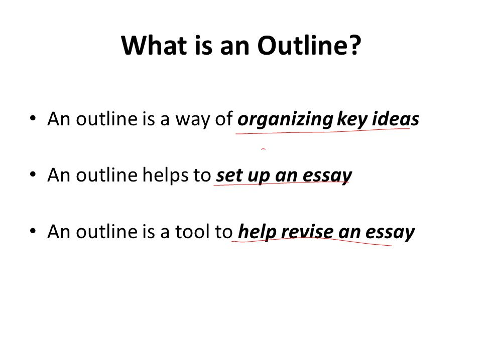 Organizing an essay