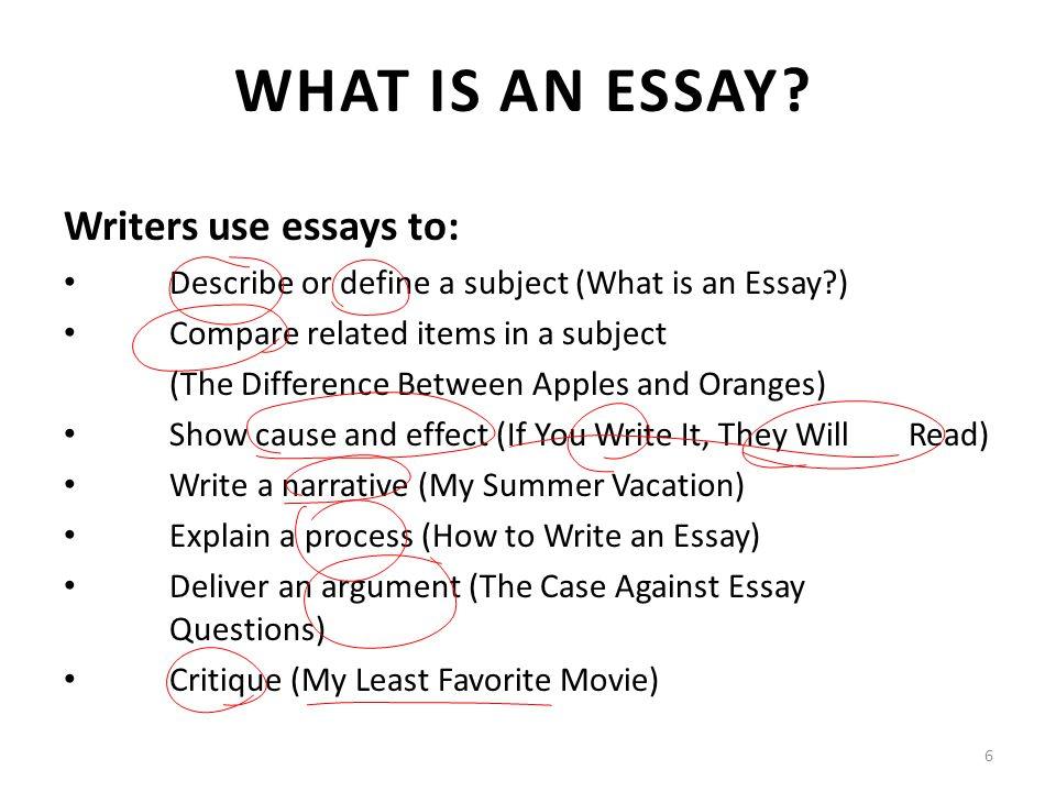 How To Write Am Essay