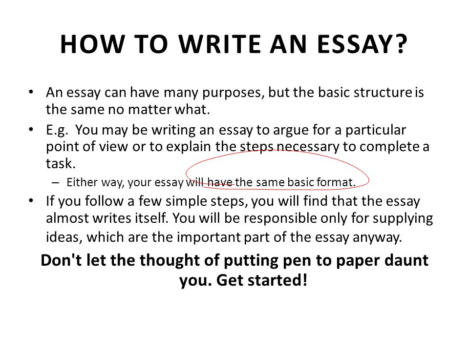 Getting Started with Essay Writing