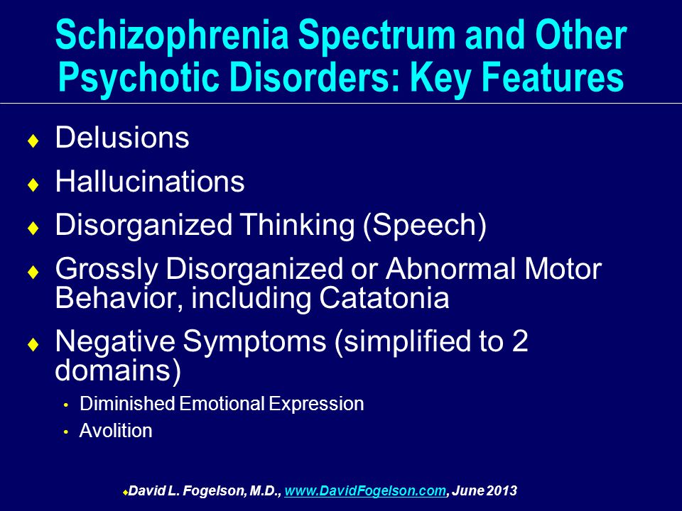 the features of schizophrenia Schizophrenia definition, a severe mental disorder characterized by some, but not necessarily all, of the following features: emotional blunting, intellectual deterioration, social isolation, disorganized speech and behavior, delusions, and hallucinations.