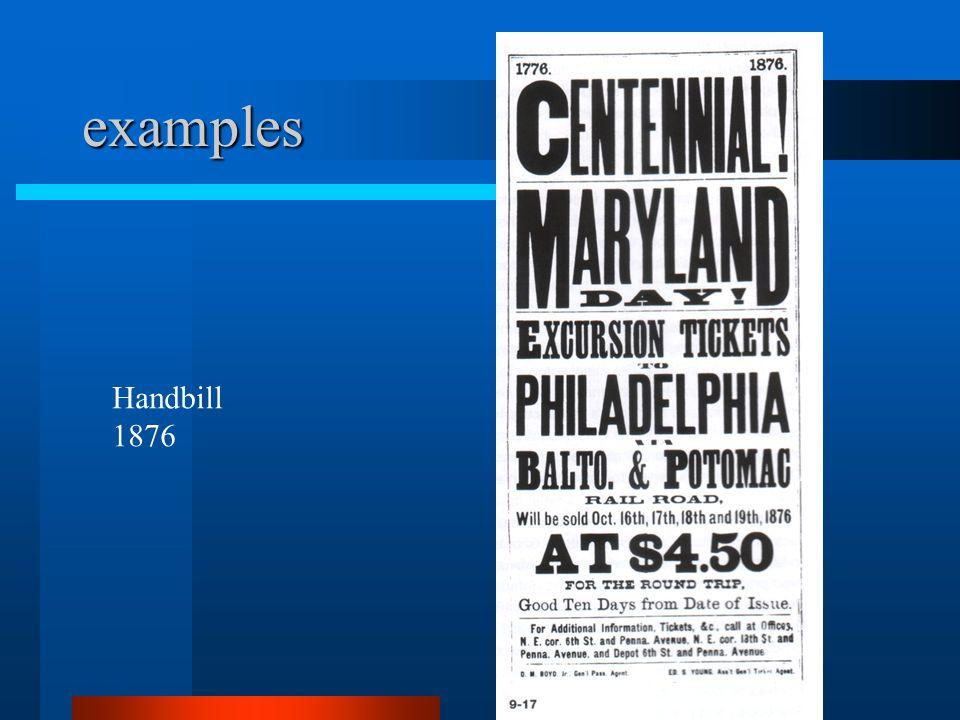 handbill examples
