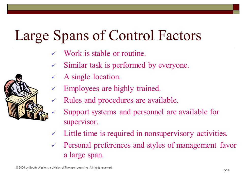Large Spans of Control Factors