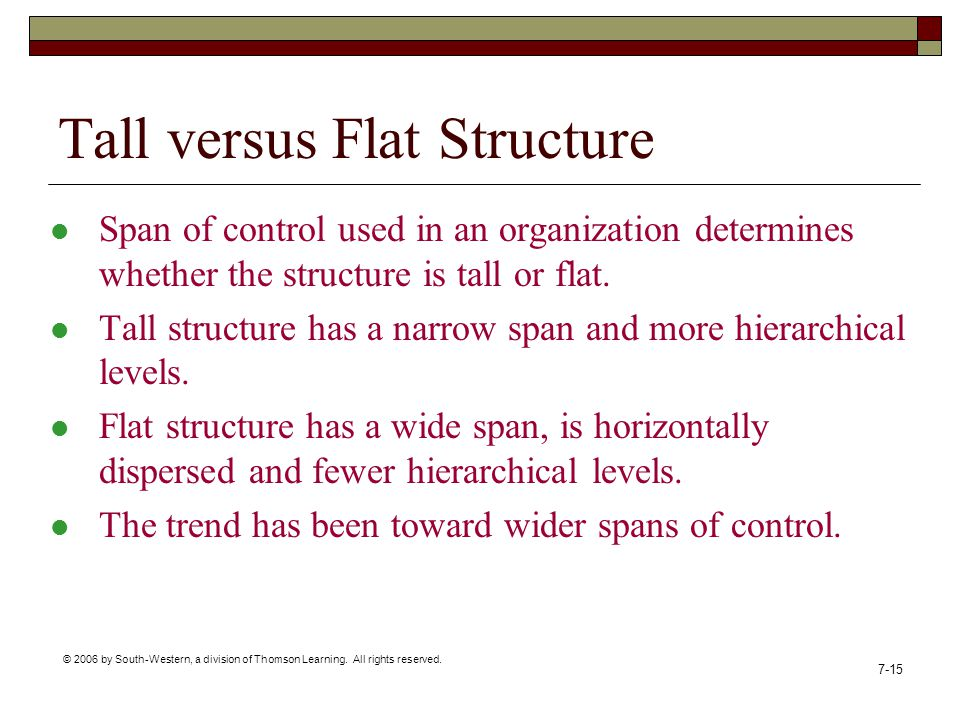 Tall versus Flat Structure