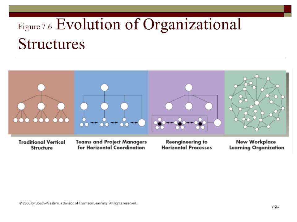 Figure 7.6 Evolution of Organizational Structures