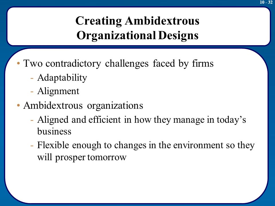 designing effective organizations Designing the organization: from strategy to organizational structure from university of illinois at urbana-champaign in this course you will understand how firms are organized, what factors must be taken into account in making critical design.