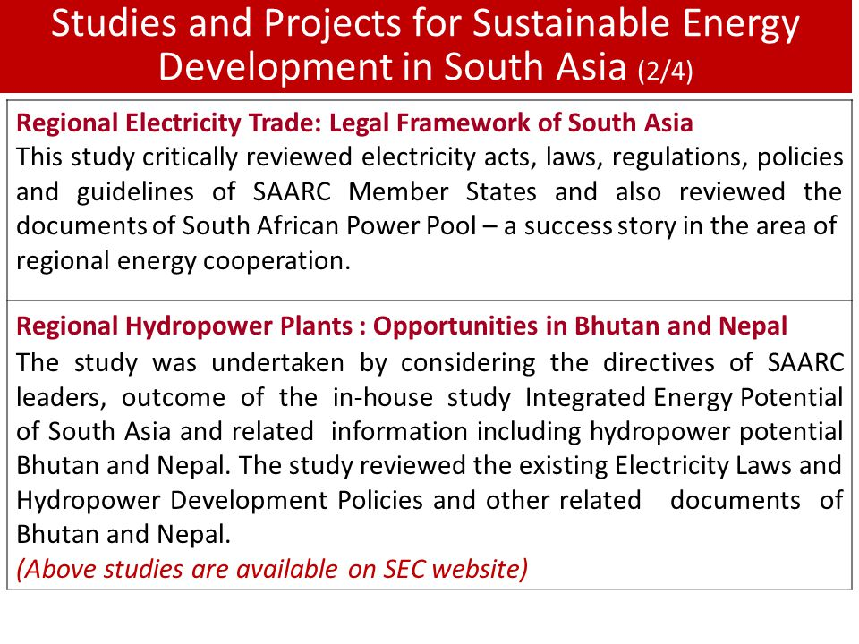 The energy cooperation in south asia under saarc umbrella ppt 11 studies sciox Images