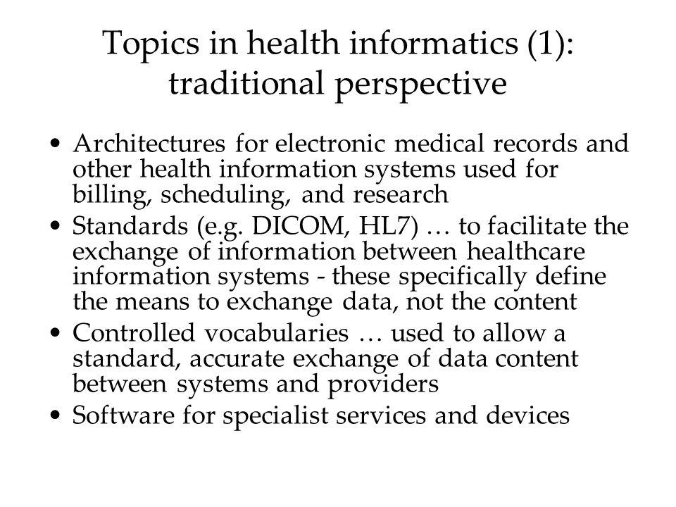health informatics topics